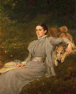 Audrey Georgiana Florence Tennyson (1854-1916), by Briton Riviere, 1899