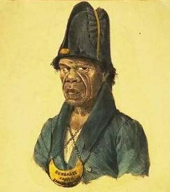 Bungaree (?-1830), by Charles Rodius