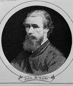 John William Brazier (1842-1930), by unknown engraver, 1875