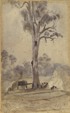 Robert Russell, Surveyor's camp, Dec 27 1851