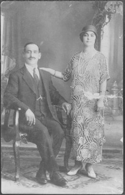 Harry Monsoor, with his wife, n.d.