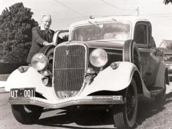 Lewis Bandt, with his ute, n.d.