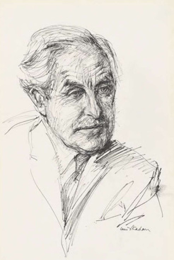 Sir Harold White, by Louis Kahan, 1970