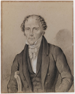 Francis Forbes, by Charles Rodius, 1852