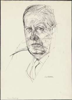 Sir James Darling, by Louis Kahan, 1960