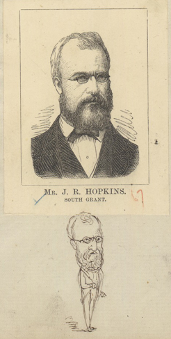 John Hopkins, by E. Gilks, 1874