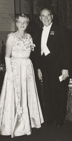 John Cain, with his wife, 1954